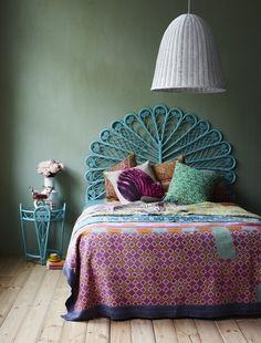 Bohemian Peacock Bedroom350 x 460 | 73.2KB | pinterest.com