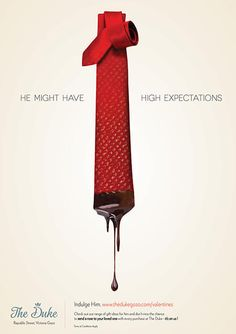 """""""He might have high expectations"""" Poster for The Duke, shopping center. #poster #advert #advertising #mall #men #man #tie #shopping mall #theduke #gozo #keen #campaign"""