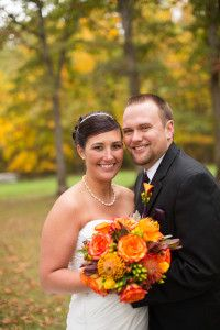 Orange and Purple Fall Wedding | Wedding Colors