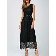 SHARE & Get it FREE   Ankle-Length Sleeveless Lace DressFor Fashion Lovers only:80,000+ Items • FREE SHIPPING Join Twinkledeals: Get YOUR $50 NOW!