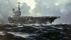 Smith - Aviation Art - Contact Us / include catalogue # Navy Aircraft Carrier, Imperial Japanese Navy, Navy Ships, Aviation Art, Ship Art, Military Art, Special Forces, Battleship, Us Navy