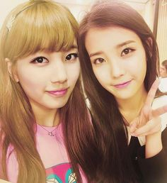 [PICTURE] Bae Suzy and IU Selca Together | Bae Suzy