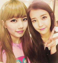 [PICTURE] Bae Suzy and IU Selca Together | Bae Suzy