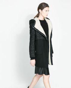 COMBINATION COAT from Zara, size medium