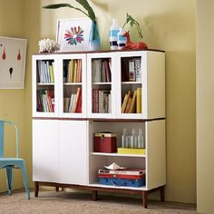 wood and glass cabinet for home office and privat library