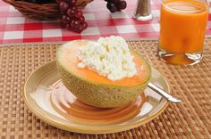 Cantaloupe and cottage cheese   http://www.echeverridental.com/