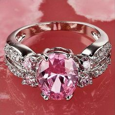 Brand New: Pink Sapphire, Diamond Encrusted Sterling Silver Ring. Jewelry @ Immortalmastermind.com ($329.95) @ http://immortalmastermind.mybigcommerce.com/brand-new-pink-sapphire-diamond-encrusted-sterling-silver-ring-6/