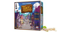 A Tiny Towns egy nagyon jó, legjobb családi társasjáték díjára jelölt gondolkodtató társasjáték. A játékosok minél értékesebb várost építenek a játékban. Mindenki a saját városát építi maga előtt. Tetrisz alapon működő játék, vagyis tetrisz alakzatokat kell a táblán kirakni nyersanyagokból (kis fakockákból), azokat pedig építményekre cseréljük, hogy minél több pontot érő várost építsünk. Welcome To The Game, Wooden Buildings, Alternate Worlds, Game Item, Goblin, Predator, Civilization, Games To Play, Really Cool Stuff
