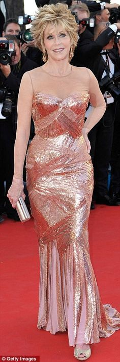 Sensational at 74: Jane Fonda in Atelier Versace at the opening ceremony and Moonrise Kingdom premiere at the 65th Annual Cannes Film Festival