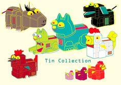 Tin Toys by Eleftheria Alexandri, via Behance