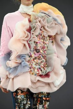 Ruffles Garden | avant-garde, soft sculptural runway fashion | Viktor & Rolf Fall 2016