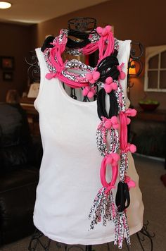Sussed up T Shirt Scarf How-To Post - there are probably 15 different scarves to get ideas from.  Great work Tonia from 4 Little Fergusons