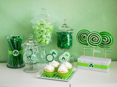 St. Patrick's Day Candy Buffet, Candy Bar, Dessert Table