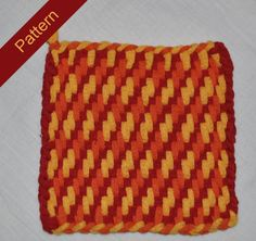 Pattern Instructions for Twill and Zigzag Woven by BlackberryFlats Pin Weaving, Weaving For Kids, Loom Weaving, Potholder Loom, Potholder Patterns, Nifty Crafts, Loom Craft, Peg Loom, Craft Images