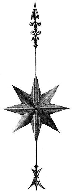 *The Graphics Fairy LLC*: Vintage Steampunk Clip Art - Compass Rose - Star