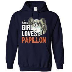 This Girl Loves Her Papillon shirt