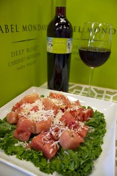 A delicious summer salad and a great wine to pair with it.