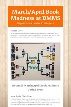March/April Book Madness at DMMS