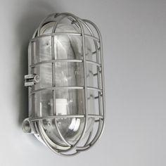 Salvaged obround Czech bulkheads : Wall Lights : Skinflint Design