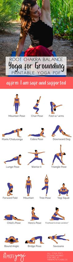 Align your chakras using this FREE yoga sequence, click on the pin for your free PDF #freeyoga #chakra #rootchakra #yoga