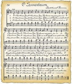 Free Vintage Christmas sheet music (for those craft projects that call for sheet music!)