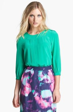 kate spade new york 'moxie' pleated silk top available at #Nordstrom