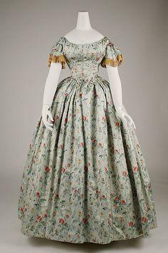 Dress, Evening 1850s.