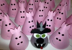 BIG BAD WOLF Birthday Party Hats Set of 5  The by AnnaliseJDesigns, $15.00