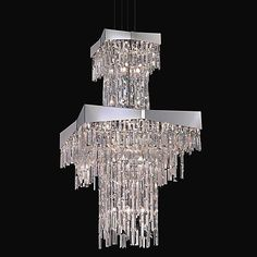 Refrax wave schonbek lighting room and house schonbek lighting clear riviera 2 tier chandelier mozeypictures Choice Image