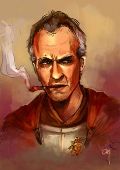 Stephen Dillane imagined as His Grace Sir Samuel Vimes, the Duke of Ankh-Morpork, Commander of the City Watch, and Blackboard Monitor.  By Cin the Barbarian.  I dearly love this fancasting.