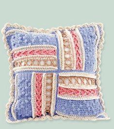 Crochet Parquet Pillow Cover: knit & crochet: