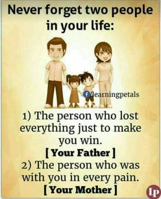 Never forget ur father and mother 👨‍👩‍👧‍👦 Father Daughter Love Quotes, Love My Parents Quotes, Mom And Dad Quotes, I Love My Parents, Sister Quotes, Family Quotes, Mother Father Quotes, Nephew Quotes, Cousin Quotes