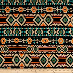 Ponte de Roma Geometric Black/Tan from @fabricdotcom  This ponte de roma double knit fabric has a soft hand, full bodied drape and 30% stretch across the grain. This knit is perfect for creating skirts, dresses, form fitting apparel, T shirts, jackets, tops and more! Colors include tan, jade green, orange and purple.
