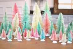 So a friend of mine, Leslie , posted a photo of her bleached bottle brush trees on Instagram. I had heard of doing this, and had done a...