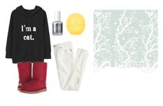 """Untitled #13664"" by jayda365 ❤ liked on Polyvore featuring J.Crew, UGG Australia, Timorous Beasties, Essie and Topshop"