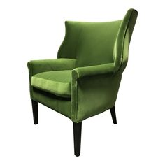 Lee Industries Conroy Green Wingback Chair For Sale Dining Room Table Chairs, Industrial Dining Chairs, Wayfair Living Room Chairs, Shabby Chic Table And Chairs, Accent Chairs For Living Room, Cafe Chairs, Boutique Interior Design, Lee Industries, Patterned Armchair