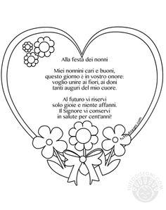 Nonni - TuttoDisegni.com Kindergarten Science, Grandparents, Projects To Try, Scrapbook, Google, Ladies Day, Grandmothers, Scrapbooking, Guest Books