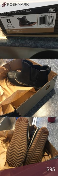 Sorel size 8 boots Like new worn once retail $115 black color Sorel Shoes Ankle Boots & Booties