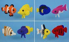 AquaAmi Tropical Fish crochet patterns by PlanetJune