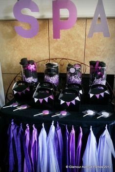 "Photo 1 of 59: Spa Party / Birthday ""Purple Ombre Beauty Spa"" 