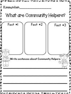 "ON SALE NOW May 27th and Math 28th!!!! Community Helpers ""Research"" Writing Unit w/ Literacy+Math~Freebie in the download preview! This is 178 pages!!! 12 different Community Helpers with TONS of writing templates! Full of Cute Whimsy Clips clip art!"