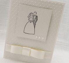 Handmade Wedding Card - Handmade Bride & Groom Card  - Handmade Card for Wedding. $4.85, via Etsy.