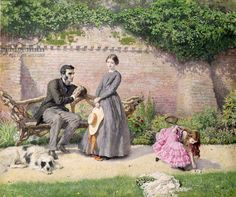 Rochester and Jane Eyre by Frederick Walker (1840-75)