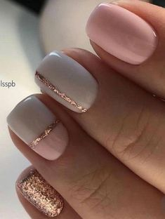 Lovely gold nail art designs ideas - nail art is a beautiful art that is a popular fashion trend in the recent times. D nail-decorations are all i. Gold Nail Art, Pink Nail Art, Rose Gold Nails, Pink Nails, Pink Art, Maroon Nails, Gold Art, Short Nail Manicure, Manicure E Pedicure
