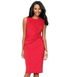 {Ruched-Waist Dress} Polyester knit with spandex. Machine wash and dry. $29.99 http://lareinaliona.avonrepresentative.com