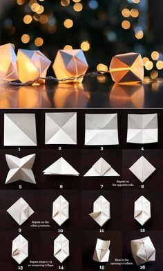 Paper Cube String Lights........DIY new year party ideas To Host The Best New Year's Party Ever!!!!