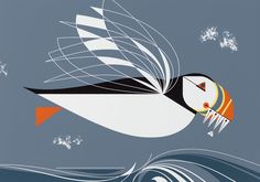Charley Harper: The Name is Puffin, 1971. © Charley Harper Art Studio