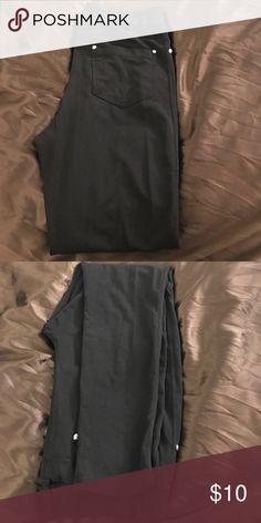 Black skinny jeans Rayon, nylon, and spandex material Pants Skinny