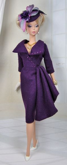 Follies for Silkstone Barbie and Victoire Roux on Etsy now - Purple is my favorite color!