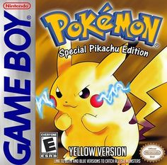 Pokemon Yellow Nintendo Gameboy game now on sale! Original and authentic Game Boy game. Cleaned, tested, and guaranteed to work and save. Pokemon Game Boy, Pikachu Game, Gameboy Pokemon, Gameboy Games, First Pokemon, Play Pokemon, Pokemon Special, Pokemon Stuff, Pokemon Pokemon